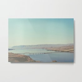 Columbia River Polaroid Metal Print
