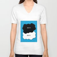 fault in our stars V-neck T-shirts featuring the fault in our stars by lizbee