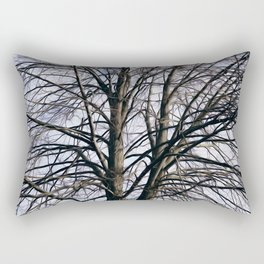 Stained Glass Tree Rectangular Pillow