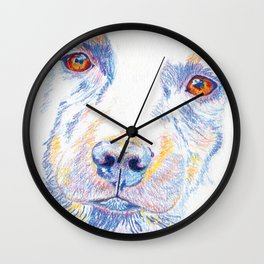 Lotte, the rescue dog Wall Clock