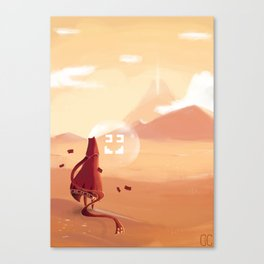 The journey of the brave knight  Canvas Print