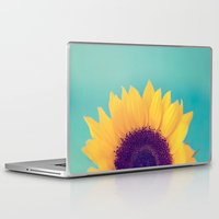sunflower Laptop & iPad Skins featuring Sunflower by Debbie Wibowo