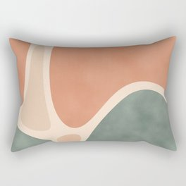 Earth Tones Shapes Rectangular Pillow