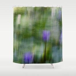 Tropical Impressionism (Purple Water Lily) Shower Curtain