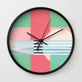 Graphic Collage Wall Clock