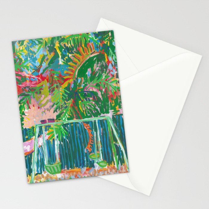 Backyard Swings Stationery Cards