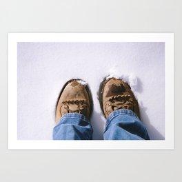 happy feet, happy soldier. Art Print