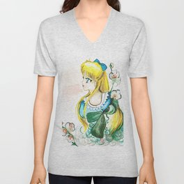 Sailor Venus White Flower Unisex V-Neck