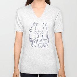BB & Cats in Underwear Unisex V-Neck
