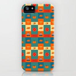 Dinner pattern iPhone Case