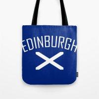 edinburgh Tote Bags featuring Edinburgh by Earl of Grey