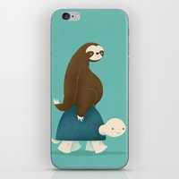 snail iPhone & iPod Skins featuring Slow Ride by Jay Fleck