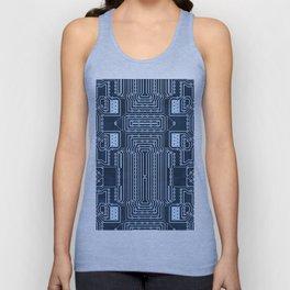 Blue Geek Motherboard Circuit Pattern Unisex Tank Top