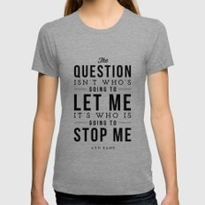 QUESTION X-LARGE Tri-Grey Womens Fitted Tee
