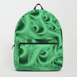 Fractal Web in Flourescent Green Backpack