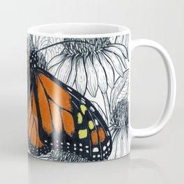 Monarch butterfly on coneflowers  Coffee Mug