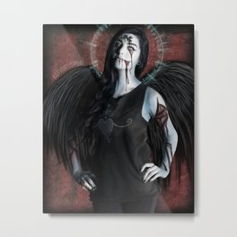 Ghoulish Glamour - Scabbed Angel Metal Print