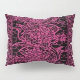 Pink Yarrow Lace Pillow Sham