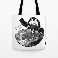 planes Tote Bags featuring paper planes by Rzuud