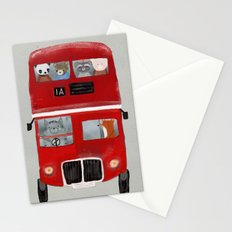 the little big red bus Stationery Cards