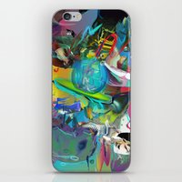 archan nair iPhone & iPod Skins featuring Microcrystalline Tendrils by Archan Nair