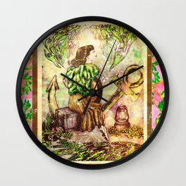 A Girl and Her Guitar  Wall Clock
