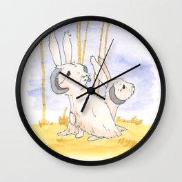 Long Haired Jackalope Mates Wall Clock