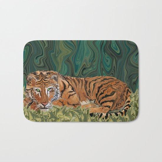 Tiger's Sunday Serendipity  Bath Mat