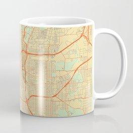 San Antonio Map Retro Kaffeebecher