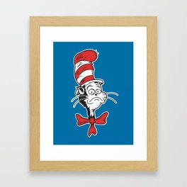 The Grumpy Hat Framed Art Print