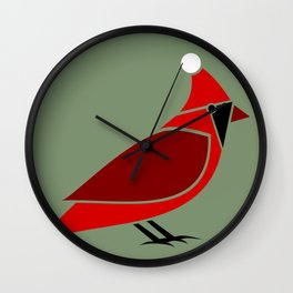 Santa Claus Cardinal Wall Clock
