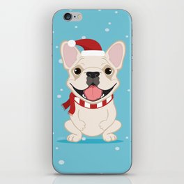 French Bulldog Waiting for Santa - Cream Edition iPhone Skin