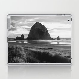 Cannon Beach Sunset - Black and White Nature Photography Laptop & iPad Skin