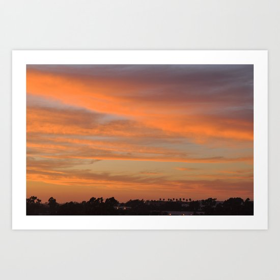 Tangerine Sunset Art Print