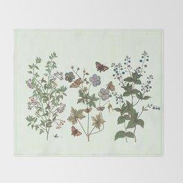 The fragility of living - botanical illustration Throw Blanket