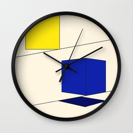In Squares Wall Clock