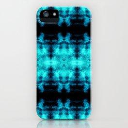 Turquoise Blue Black Diamond Gothic Pattern iPhone Case