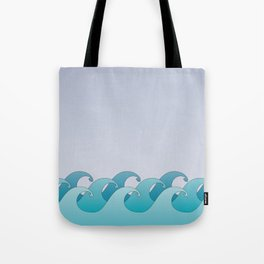 Waves in the Ocean Tote Bag