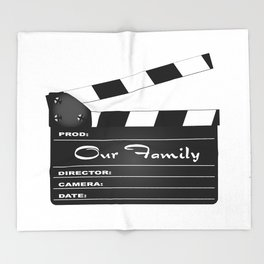 Our Family Clapperboard Throw Blanket