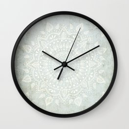 Powder Blue Mandala Wall Clock