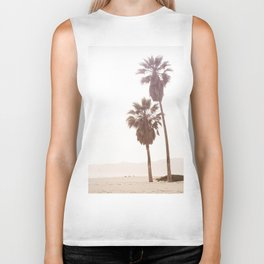 Vintage Summer Palm Trees Biker Tank