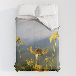 don't worry, bee happy. Comforters