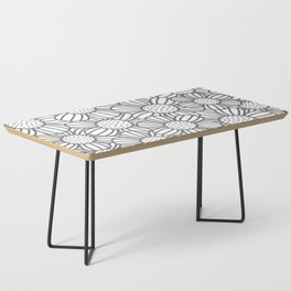 Field of daisies - gray Coffee Table