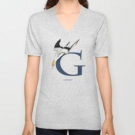 G is for Gannet: Under Appreciated Animals™, ABC nursery kids room decor blue unusual animals Unisex V-Neck