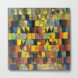 Paul Klee Once Emerged from the Gray of Night Metal Print