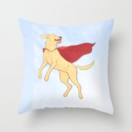 Heroic Canine Throw Pillow