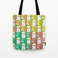 Alien Days Pattern Green Tote Bag