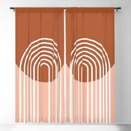 Mid Century Modern Geometric 2 Blackout Curtain