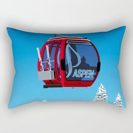 Aspen Colorado Ski Resort Cable Car Rectangular Pillow