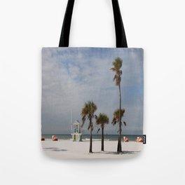 Clearwater Beach In Wintertime Tote Bag